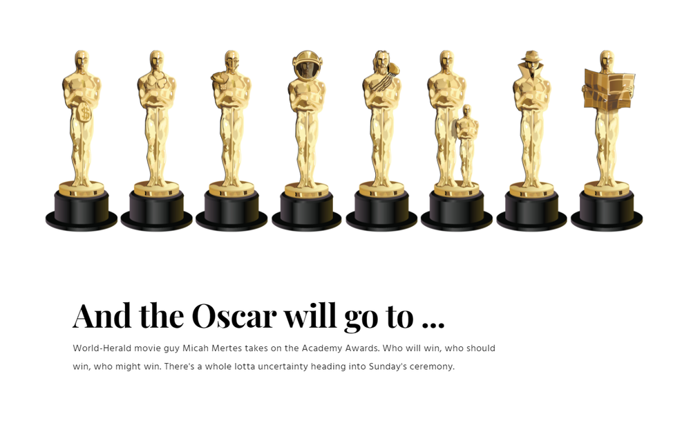 And the Oscar will go to ...