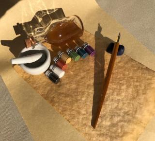IMAGE: Medieval Scribe Starter Kit Contents