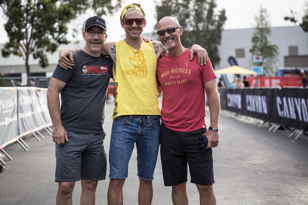 Steve Driscoll, Phil Tinstman and Tom Kattus all stoked after another successful BWR.