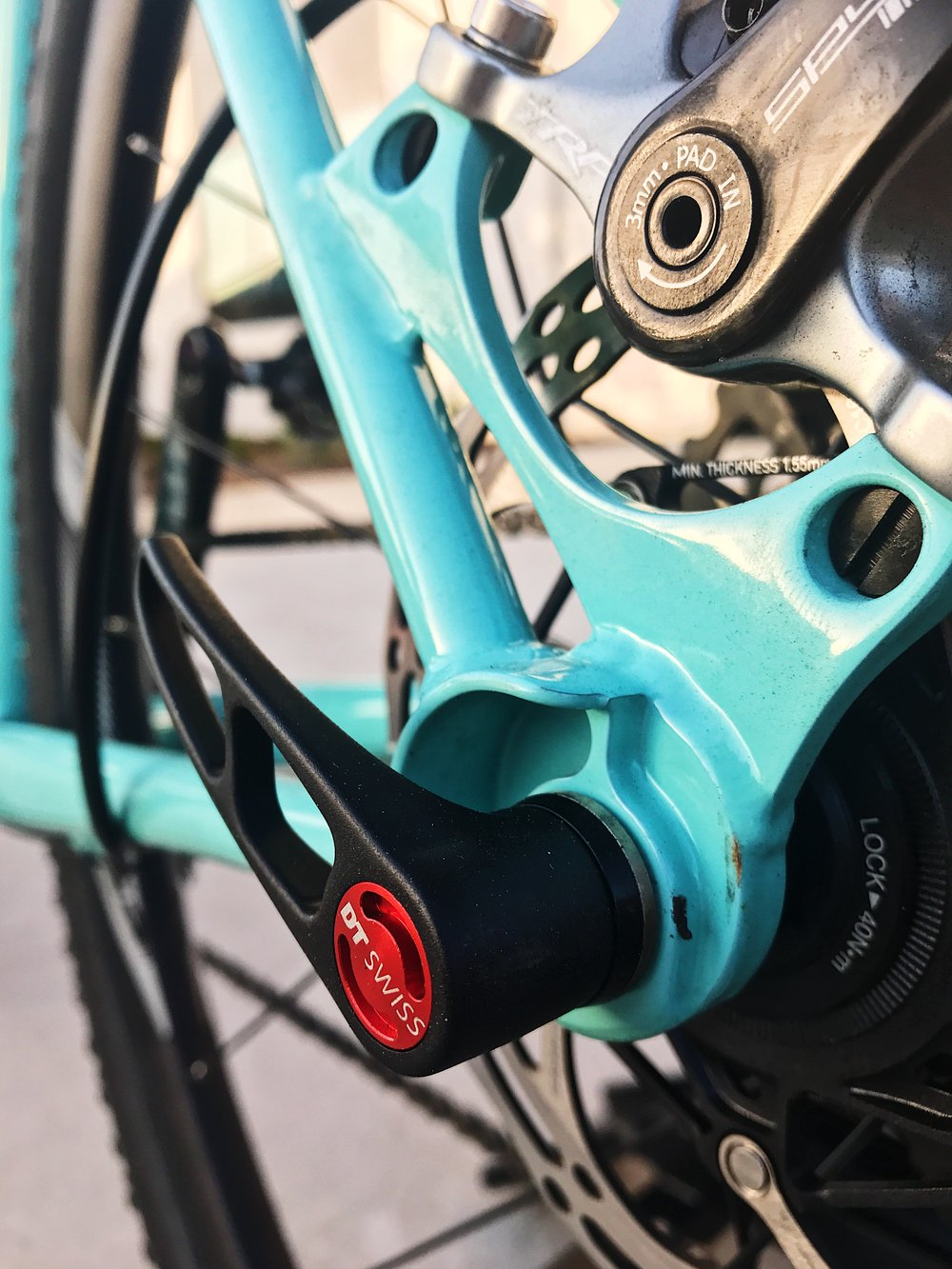 TRP Spyre brakes and 12mm thru-axle
