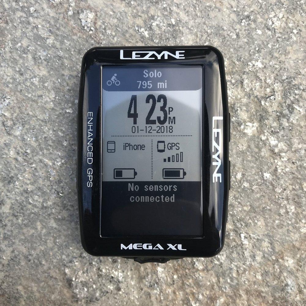 Lezyne Mega XL GPS home screen