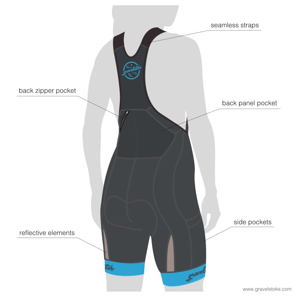 Women's Team Cargo Bib Shorts
