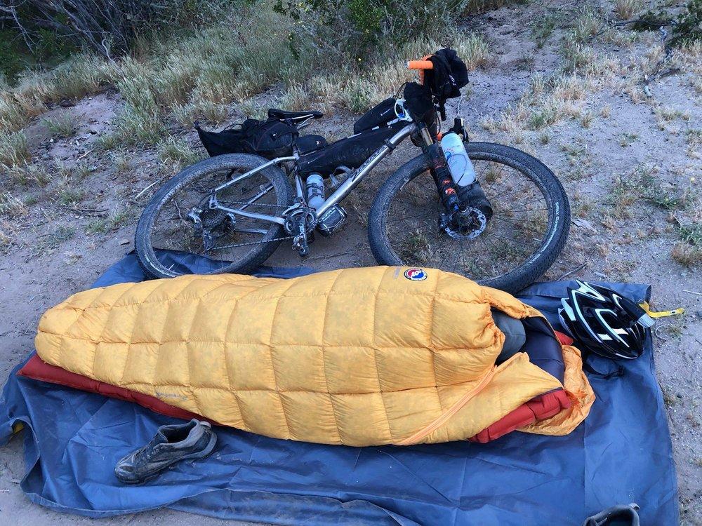 Dirt nap in the desert