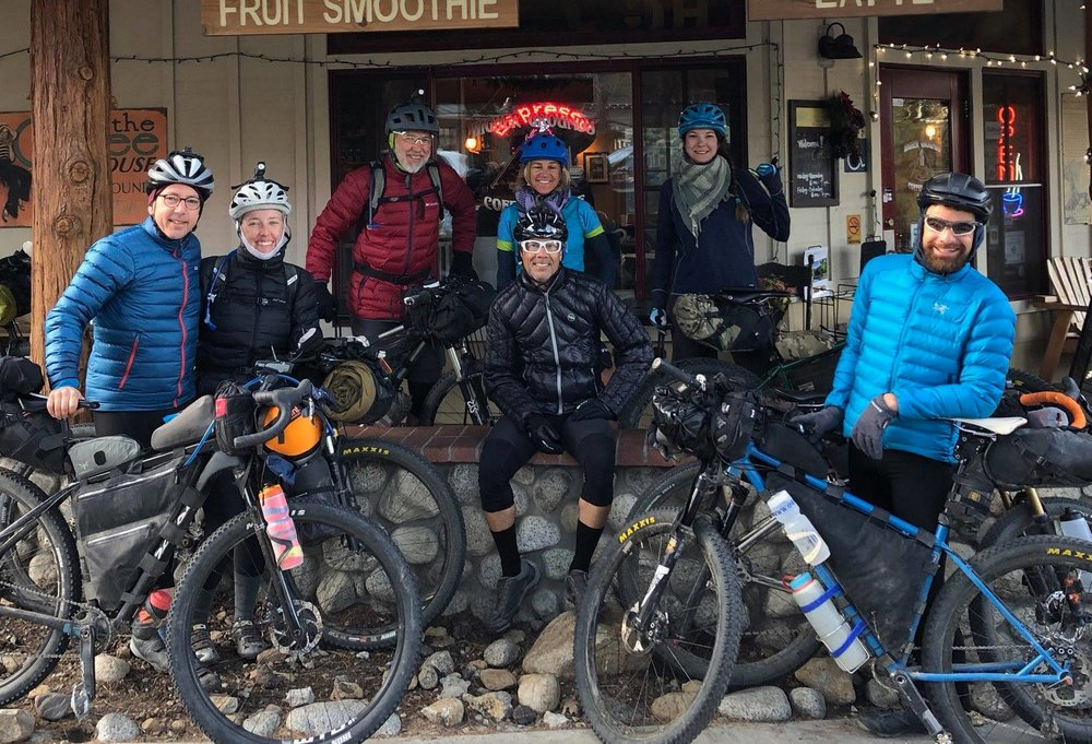 Chilly roll-out of Idyllwild with Matteo, Carrie, Herm, Shelly, Randy, Tanya, and Scott