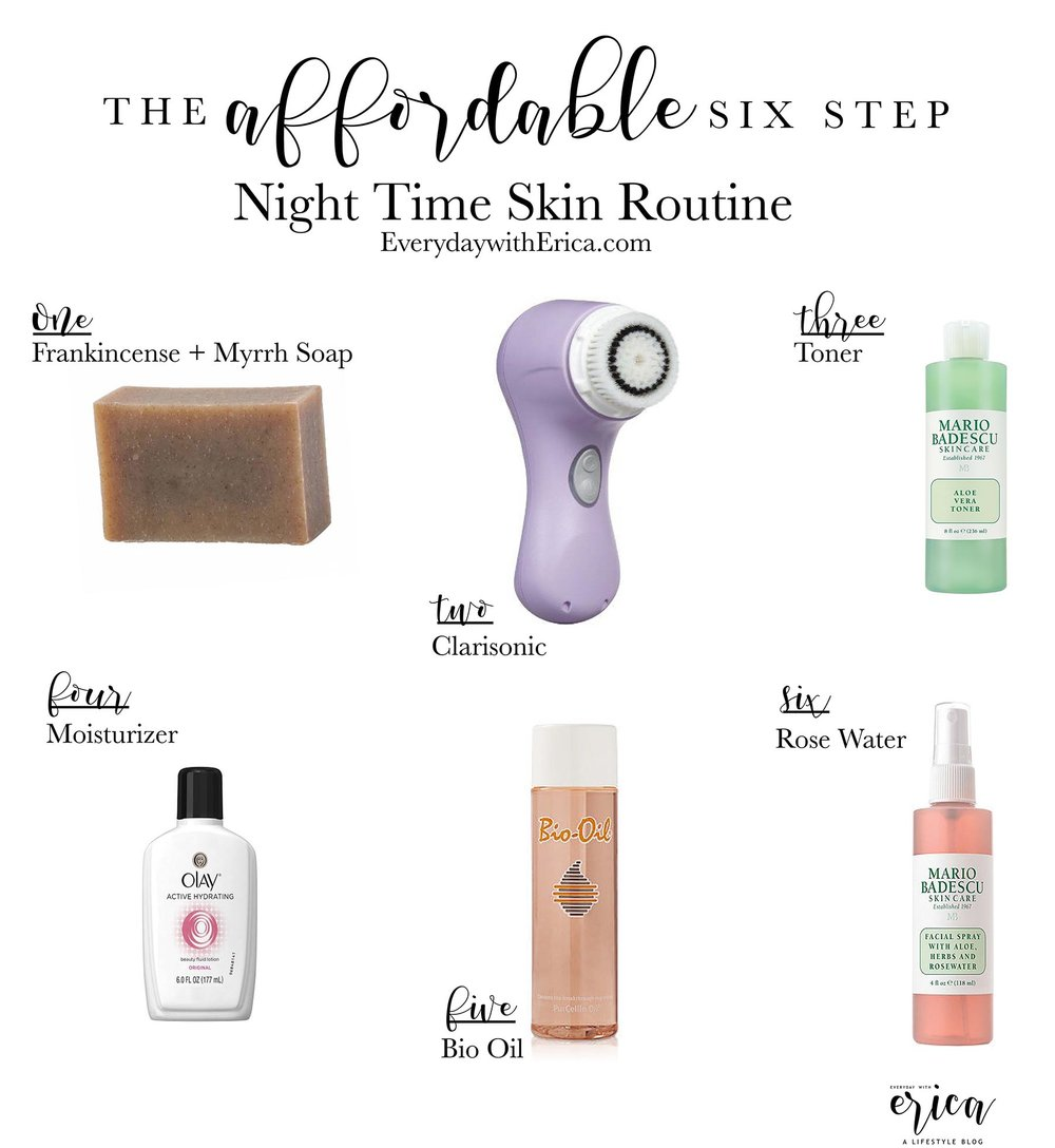 My Affordable Night Care Routine Everyday With Erica Bio Oil Skincare Nightly Skin
