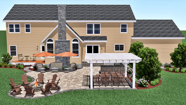 3D Design - We offer professional landscape design services and realistic 3D renderings so you can see how your finished project will enhance your outdoor enjoyment!
