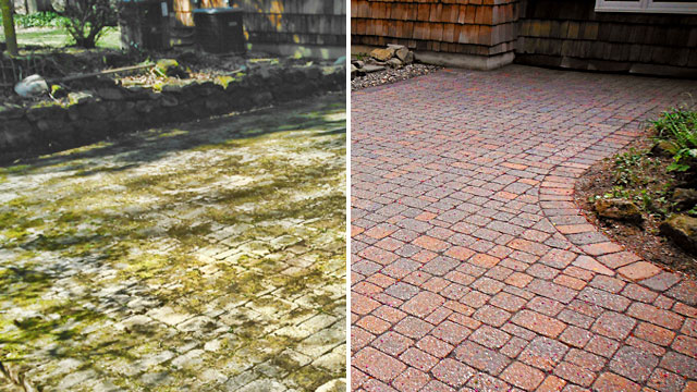 Cleaning & Sealing  - Keep your paving stones looking their best. Cleaning removes the years and sealing protects the stones while letting their natural colors come through.