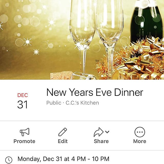 ✨🥳✨🎉✨🍾✨🥂✨ Ring in the New Year with us, here at C.C.'s! Join us for special hours on Monday, December 31st from 4-10pm as we leave 2018 behind & welcome in 2019! 6 Courses, $50 Per Guest & Byob! To make your reservations click the link in our bio! • #ccskitchenbyob #newyearseve #haddonheights #nj #hotchefs #truecooks @truecooks #truecooksnj #newamerican #foodmob #chefsroll #eater #eaternj #foodie #foodporn #njrestaurants #njfoodie #njeats #jerseyfresh #phillyeats #phillyfoodie #food52 #f52 #zagat #instafood #foodandwine #f25food #bonappetit #foodofinstagram