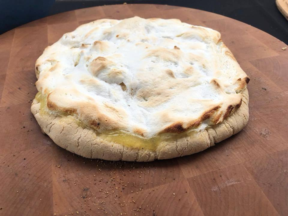 Key Lime Pizza with Graham Cracker crust!