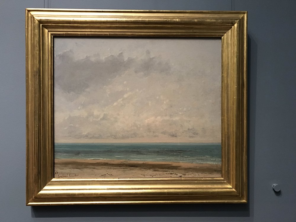 Had a couple of days to visit DC and founded two seascape paintings by Gustave Courbet in National Gallery of Art.