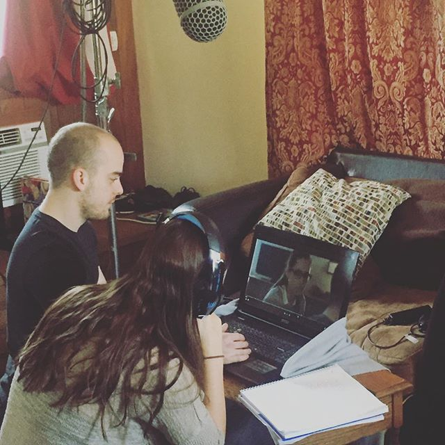 ADR session with @brittanyyisabell and co-director Dustin Rieffer for the short Murder: A Friendship Story! #mafs #horror #tascam #sennheiser #adr