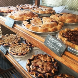 A small sample of the pie selection at Two Fat Cats.