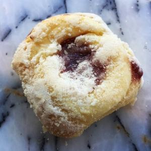 Raspberry kolache from Breadboard Bakery.