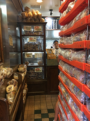 Most of the floor space at Fairmount Street Bagels is devoted to the bagels.