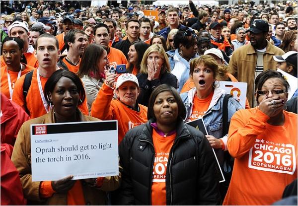 Chicagoans react to the city's failed Olympic bid   Tannen Maury/European Pressphoto Agency via the New York Times