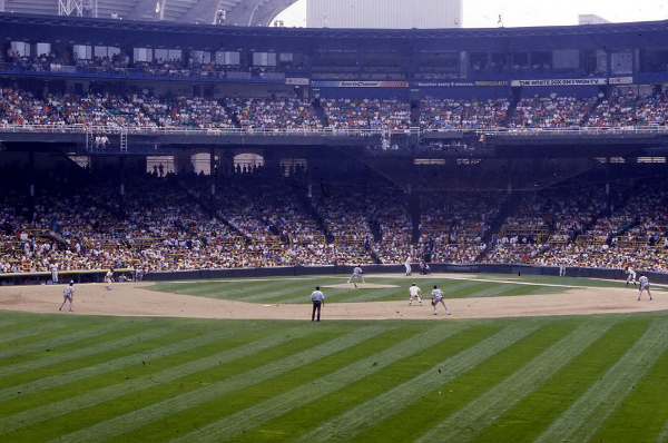 Comiskey Park infield, Chicago