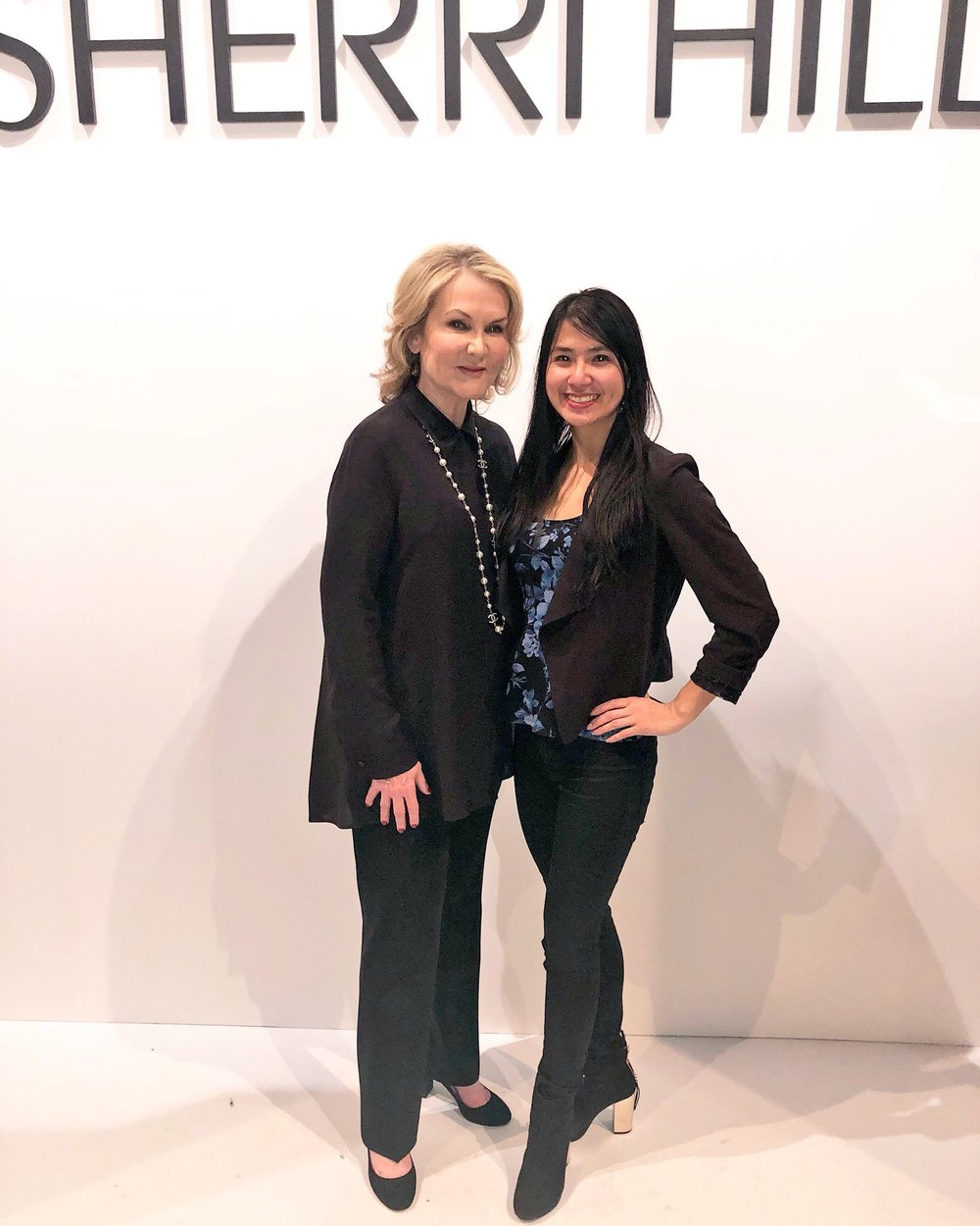 Sherri Hill and I on the runway after her NYFW show!