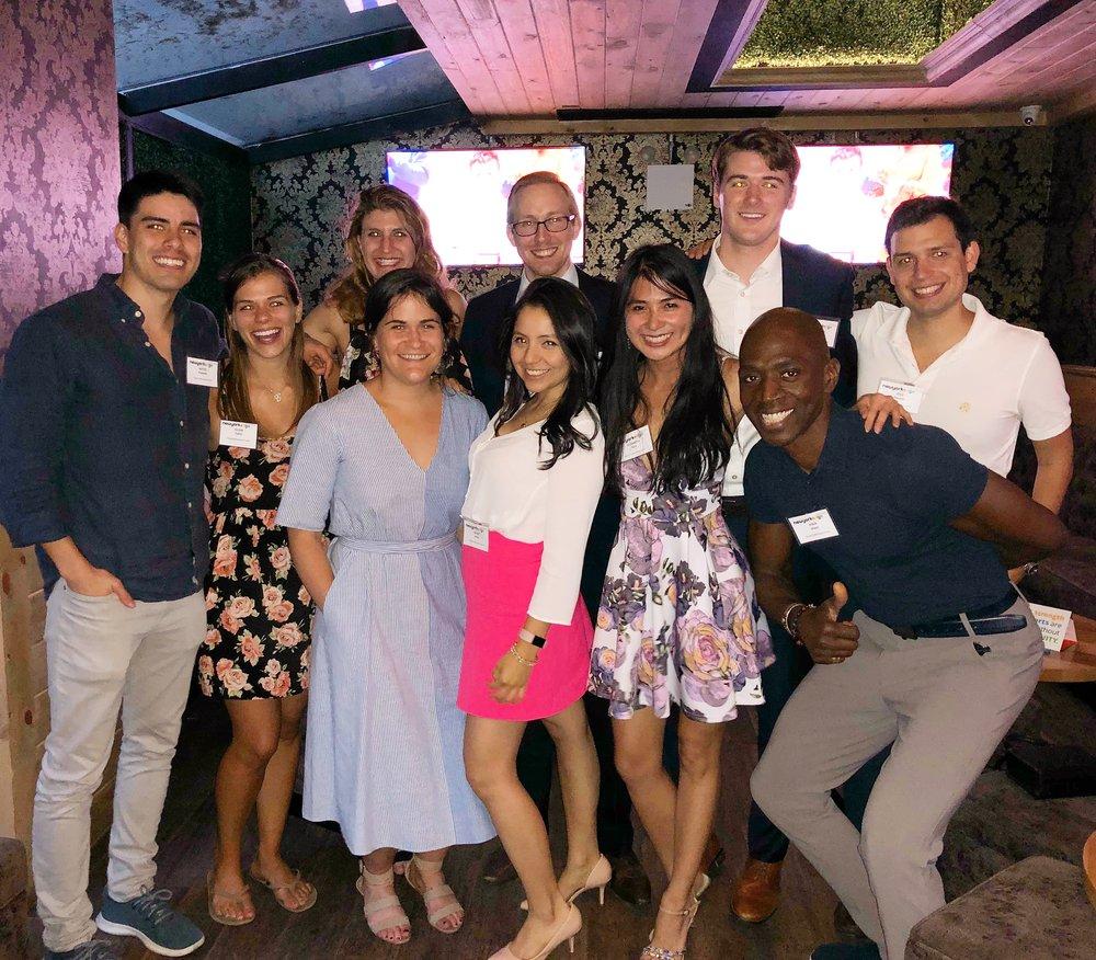 New York Edge Young Professionals Council (L-R): Mateo Creamer, Eileen Tublin, Rose Wisniewski, Evvie Kelley, Chris Creegan, Diana Arias, Elizabeth Tam, Robert Strang, Kinja Dixon, Kyle Deleon
