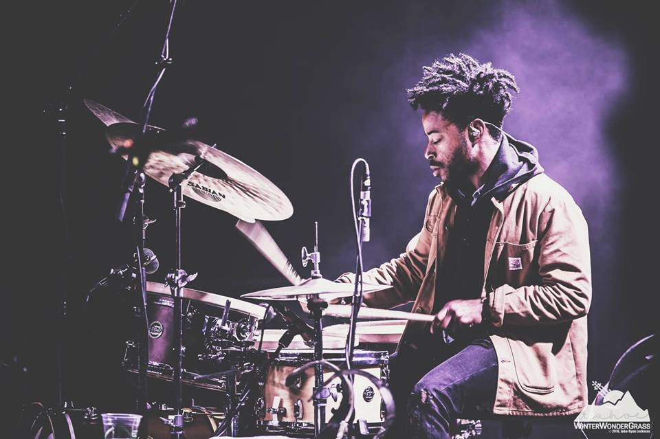 ALWYN ROBINSON ,  Drums   Alwyn Robinson, drums, is currently touring with the popular jam band Left Over Salmon and living in Brooklyn after studying music at the University of Colorado and Texas Tech University. He is originally from Texas.