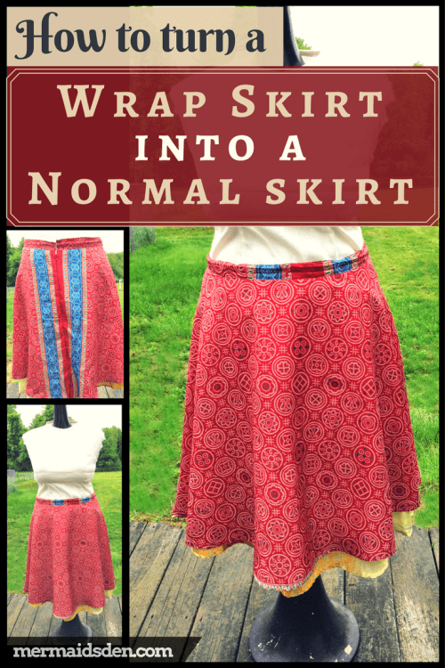 Sewing Tutorial: Convert a Wrap Skirt into a Regular Skirt