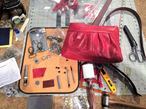 Tips for Sewing with Leather and Review of the Layla Bag Pattern
