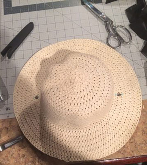 Easy DIY Dollar Store Hat Makeover Tutorial: Add a Silk Ribbon and Chin Strap