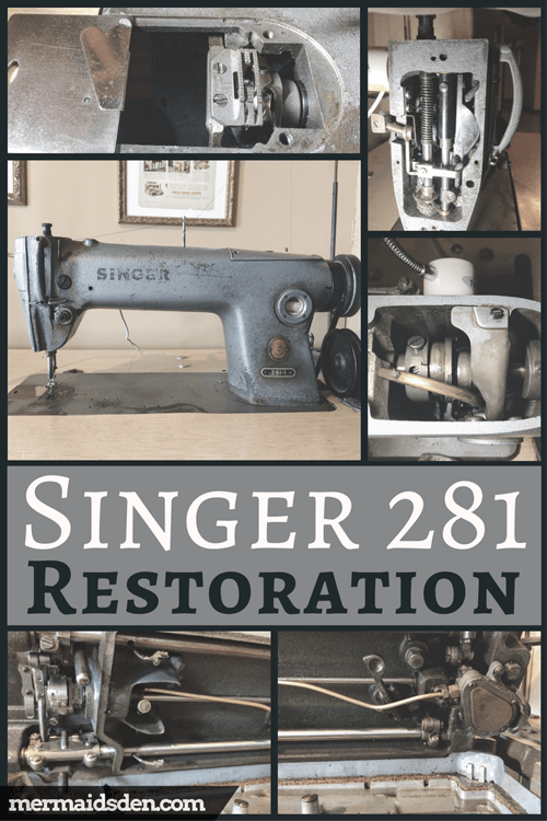 Singer 4040 Restoration Cleaning Adjusting And Replacing Parts Simple Singer Sewing Machine 281 1