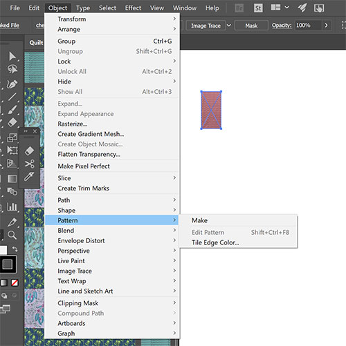 How to Draft a Quilt in Adobe Illustrator
