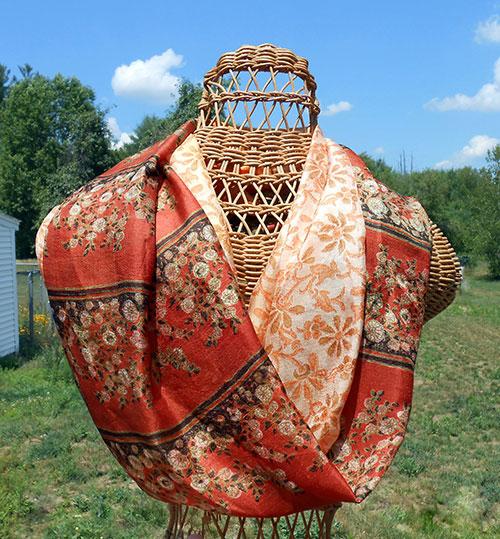 make this silk infinity scarf