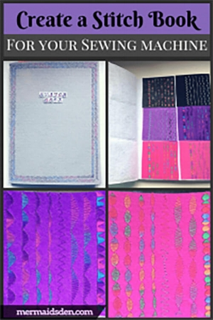 Make a stitch sample book