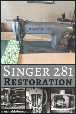 Singer 281-1 Restoration: Cleaning, Adjusting, and Replacing