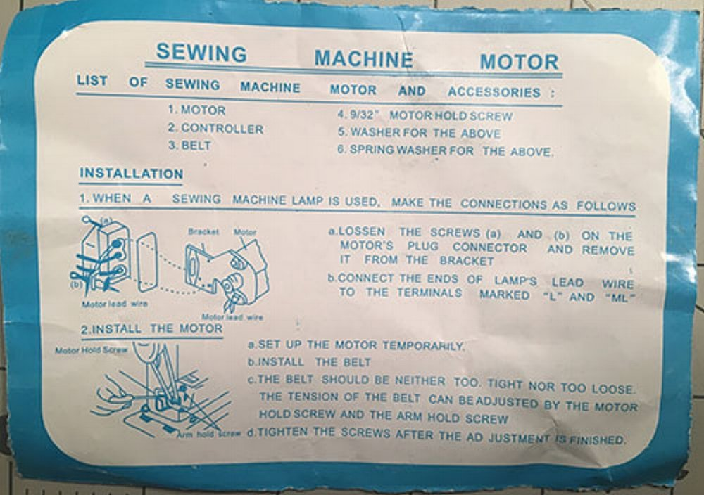 How to Replace a Sewing Machine Motor and Foot Pedal