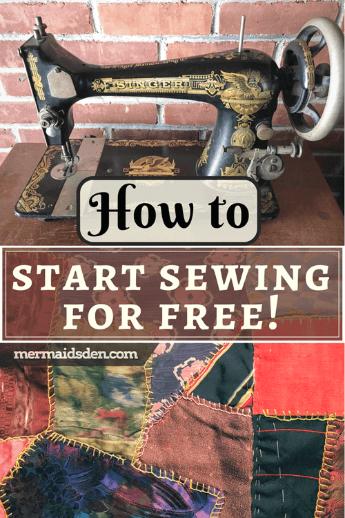 How To Start Sewing For Free The Mermaid's Den Beauteous How To Start A Sewing Machine
