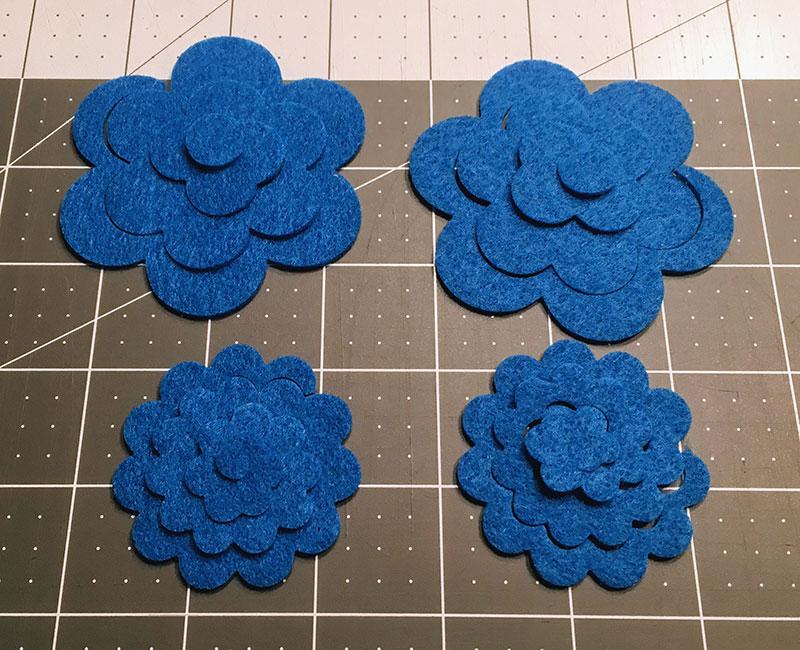 DIY Felt Flower Hair Ties
