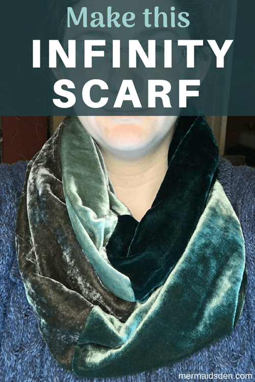 Make This Velvet Infinity Scarf