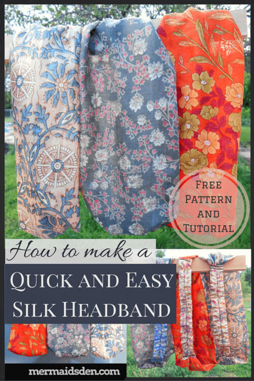 Quick and Easy Silk Headband