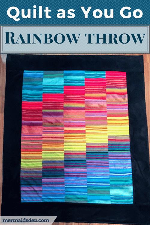 Quilt as You Go Rainbow Throw