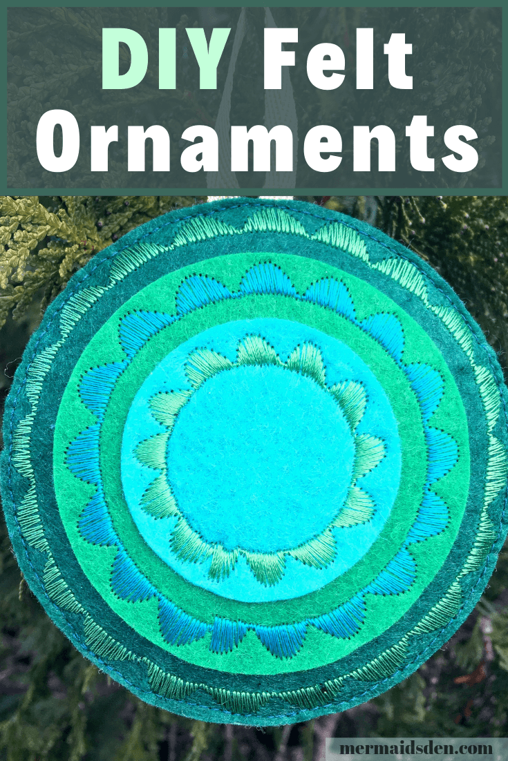 Easy Embroidered Felt Ornaments