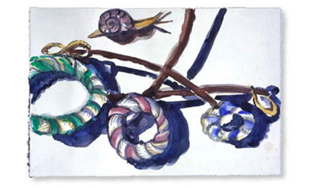 """Prima Luce, 2005.  Watercolor. 22"""" x 15"""""""