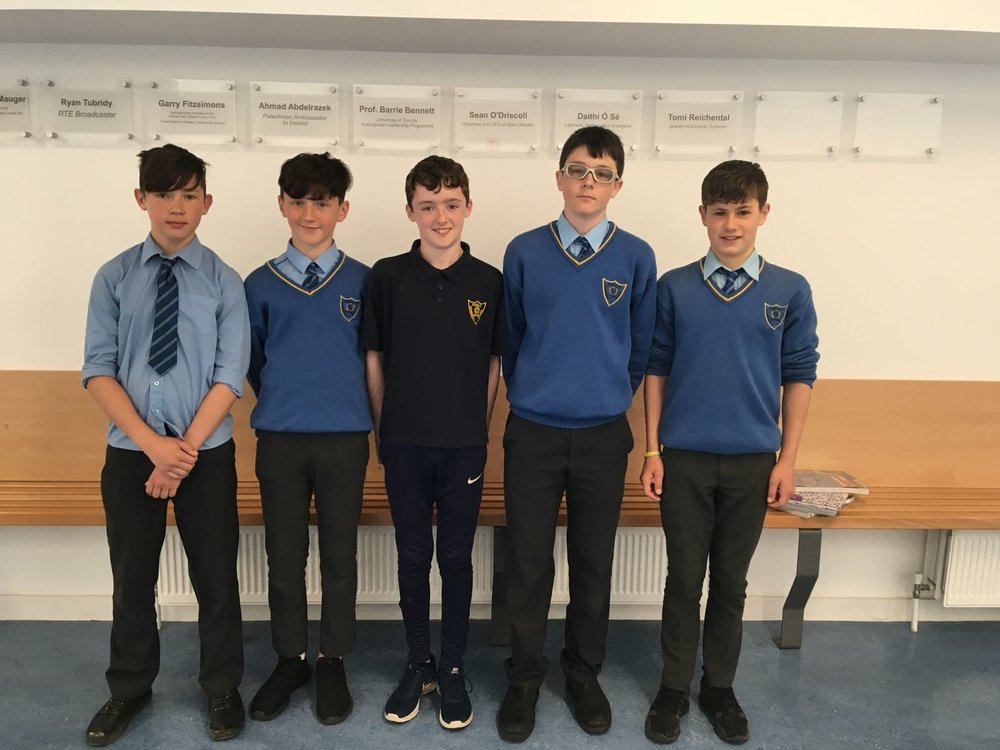 Ben o Reilly, David Looney, Max Condon, Mason Tibbs, Conor Fitzpatrick who were all part of the u13 team who won the South Munster league