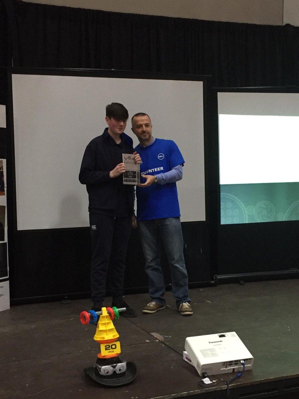 Conor Gaffney & VEX Robotics Representative.jpg