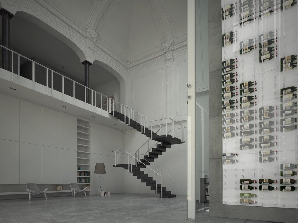 floor to ceiling glass enclosed wine cellar.jpg