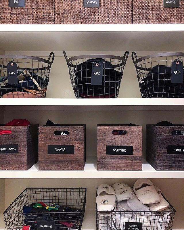 I hope this highly organized #winteraccessories area is getting lots of action this month! We also loved the idea of our client providing house slippers to her guests in her shoeless house that the slippers obviously needed their own basket. Such a great idea!! ⁣ ⁣ Follow me on the LIKEtoKNOW.it app to get the product details for this look and others http://liketk.it/2yPId #liketkit @liketoknow.it @liketoknow.it.home #LTKhome #LTKholidayathome #LTKunder50⁣ ⁣ @neatmethod #neatdc #mudroomstorage #organizedhome #getorganized #mudroom #winterstorage