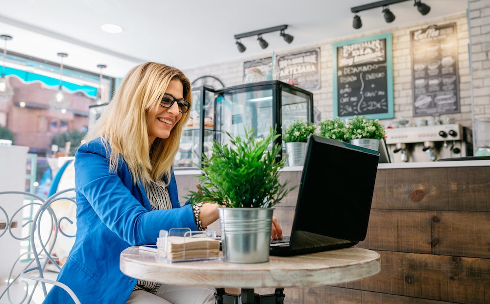 Woman Freelancer Consulting