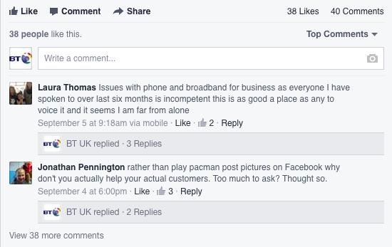 bt post on facebook insight