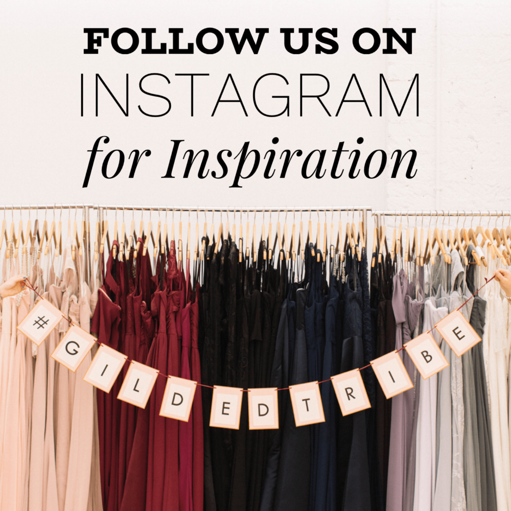 Follow Gilded Social - The Fancy Ocassion Shop on Instagram