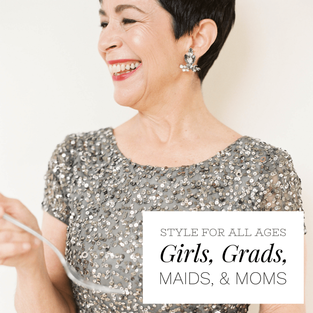 Gilded Social sells to women of all ages - flower girls and communion, high school seniors and grads, bridesmaids, rehearsal dinners, and mothers