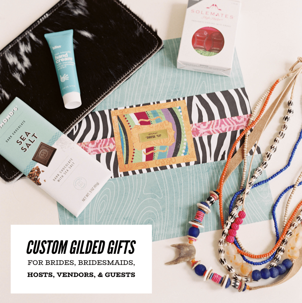 Order custom gifts for your bride from Gilded Social