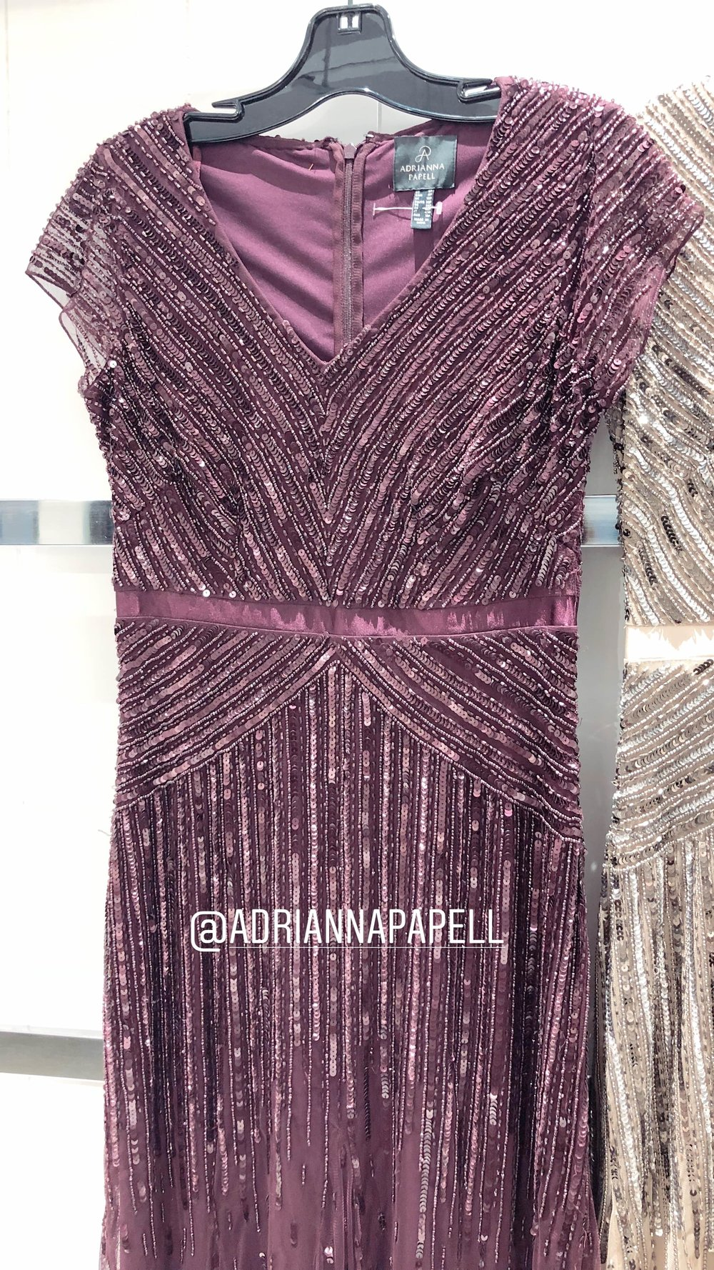 New Cassis purple from Adrianna Papell