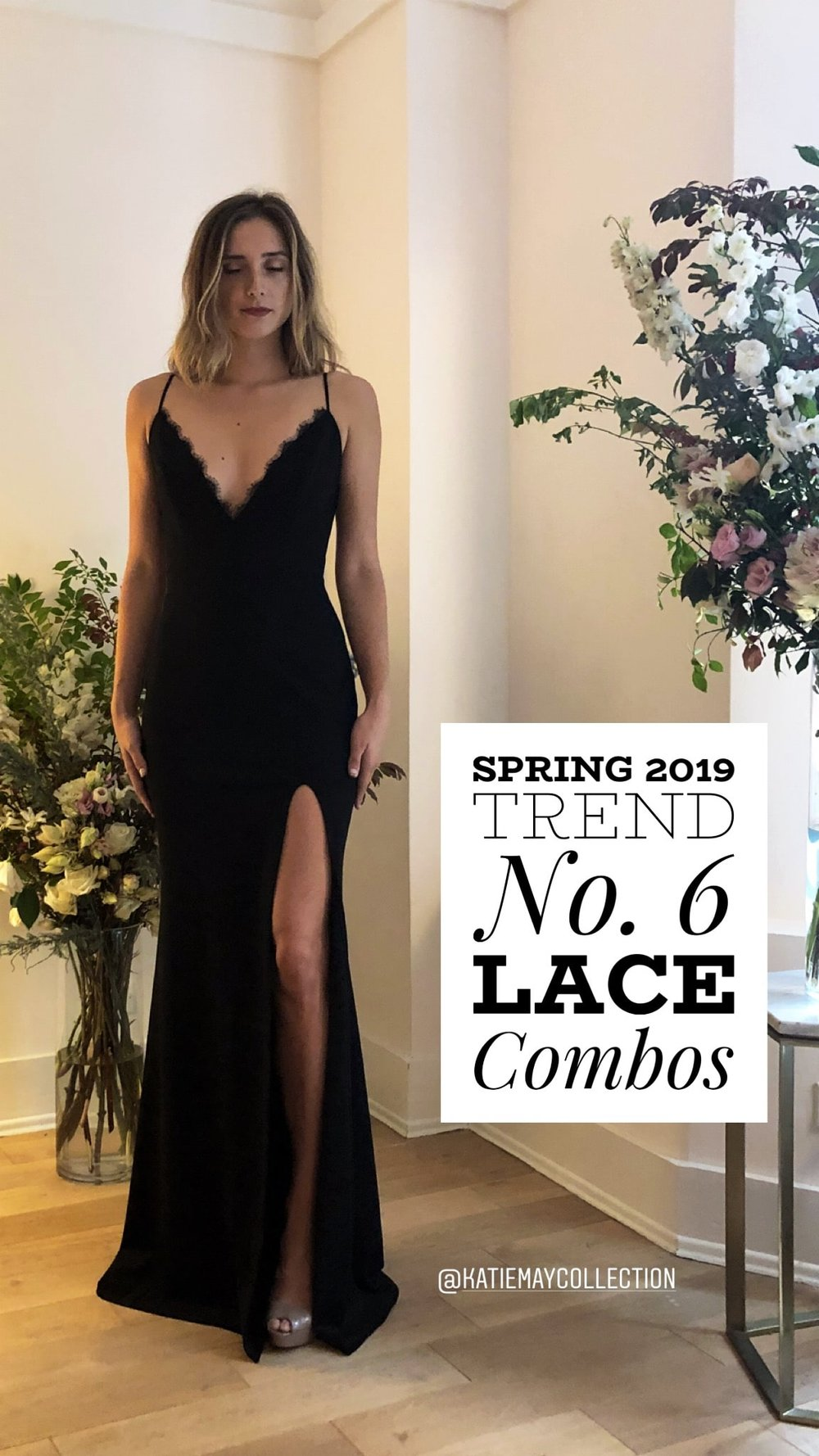 Lace Combo in black from Katie May